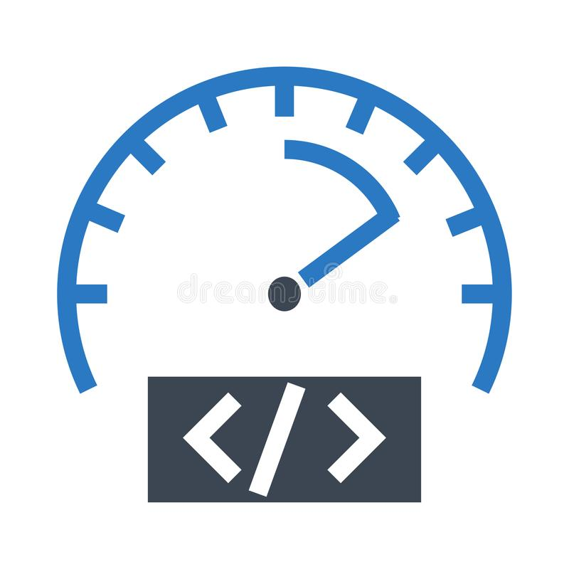 Speed meter glyphs double color icon royalty free illustration