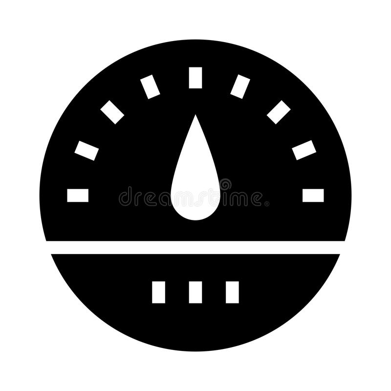 Speed meter glyphs icon vector illustration