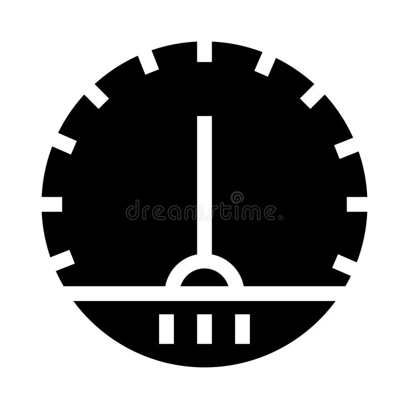 Speed meter glyphs icon stock illustration