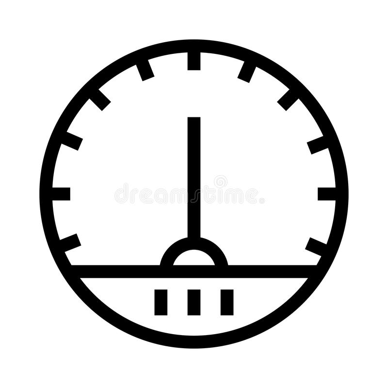 Speed meter vector line icon stock illustration