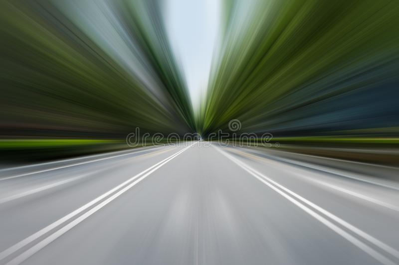 Speed motion in urban highway road tunnel stock illustration