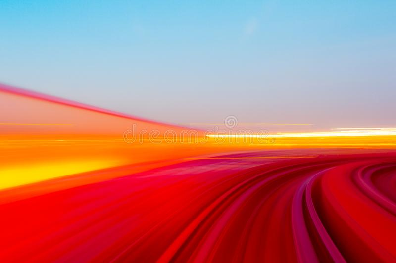 Speed motion in urban highway road tunnel royalty free illustration