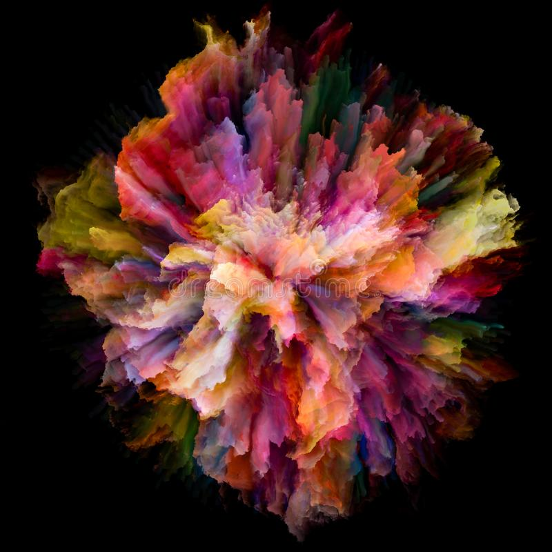 Free Speed Of Color Splash Explosion Stock Images - 133145294