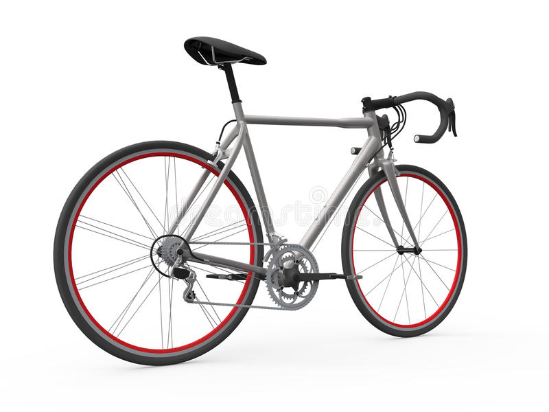 Download Speed Racing Bicycle Isolated On White Background Stock Illustration - Image: 29907735