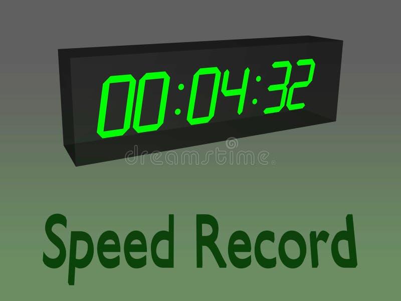 SPEED RECORD concept stock illustration