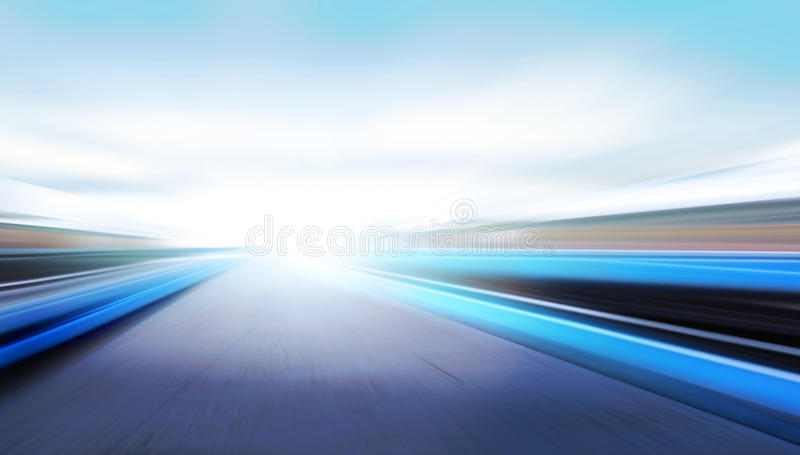 Speed on the road stock image