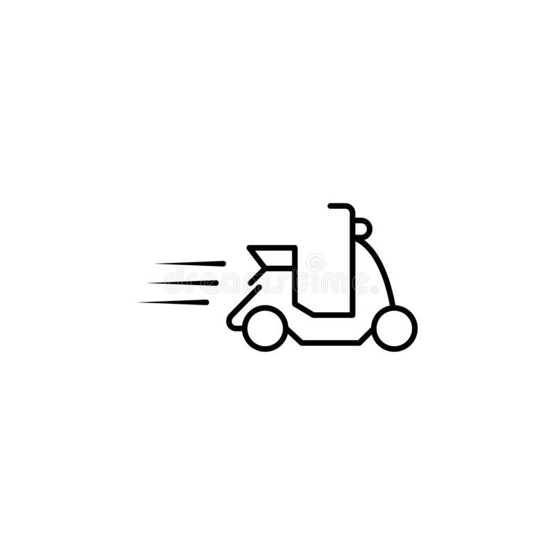 speed scooter icon. Element of speed for mobile concept and web apps illustration. Thin line icon for website design and vector illustration