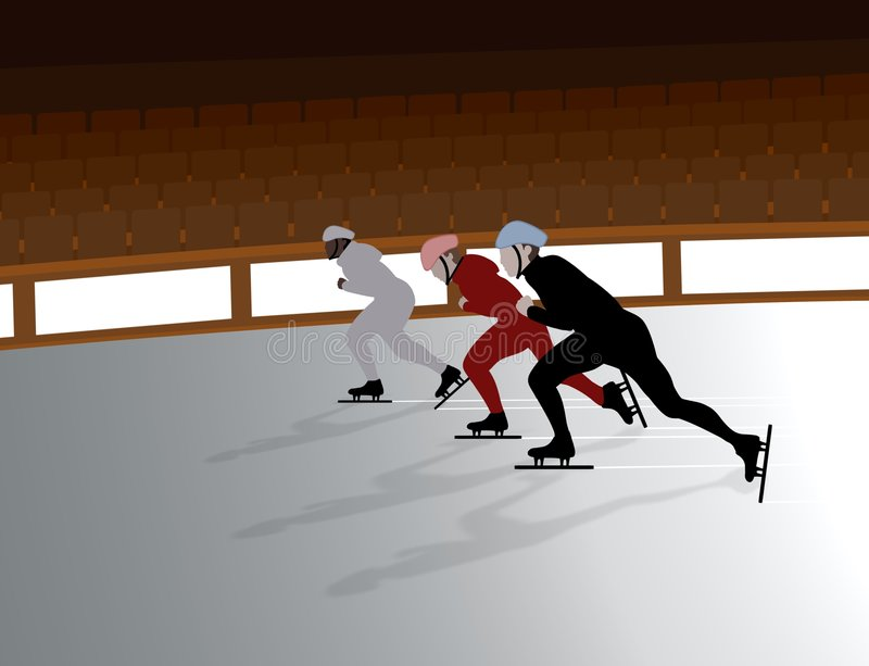 Speed Skaters stock image
