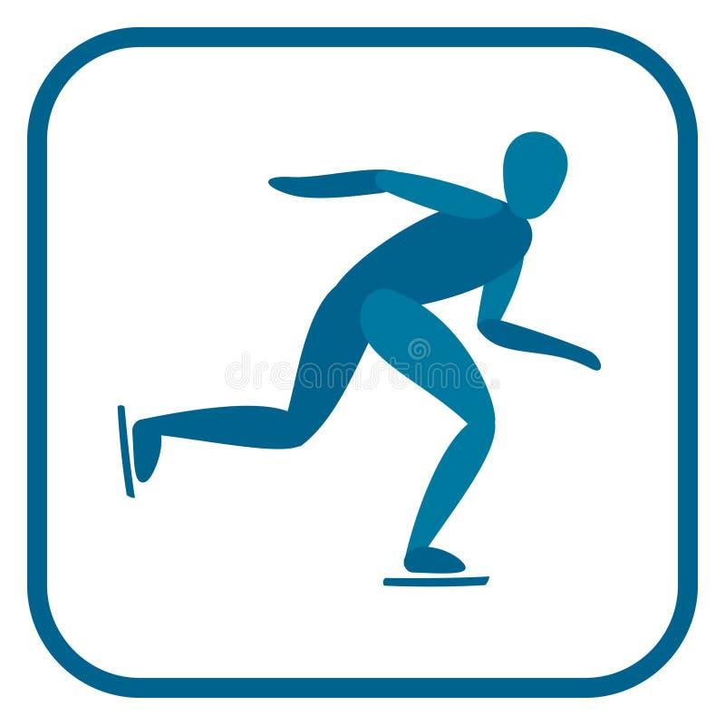 Speed skating emblem. vector illustration