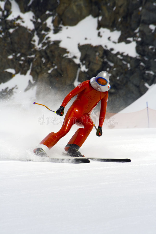 Free Speed Skiing Race, Professional World Championship Stock Image - 752601