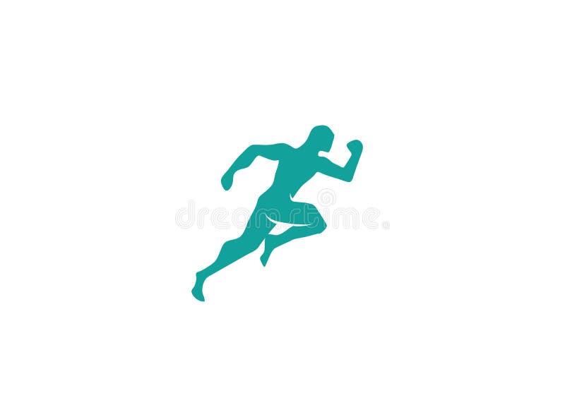Speed sprinter an athlete run fast for logo. Design illustration, sport icon royalty free illustration