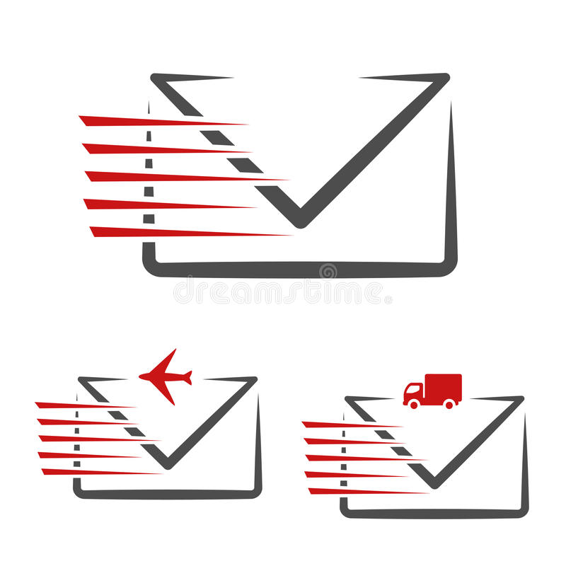 Speed Symbol Delivery Message E mail Fast Air Transport And