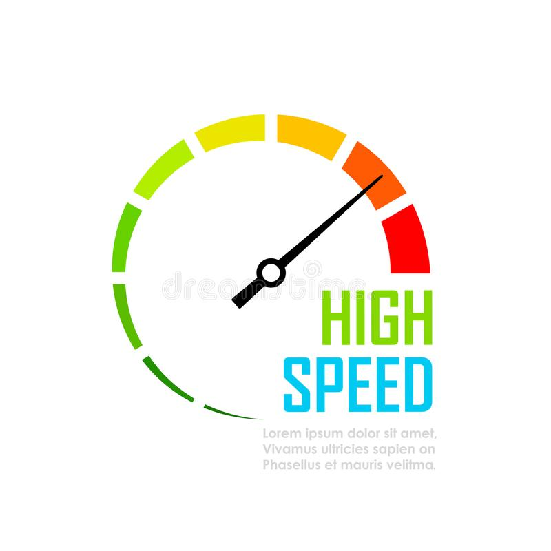 Free Speed Tester Dial Face Vector Icon Royalty Free Stock Images - 101721059