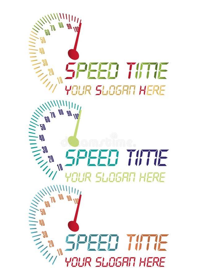 Speed time logo stock photo