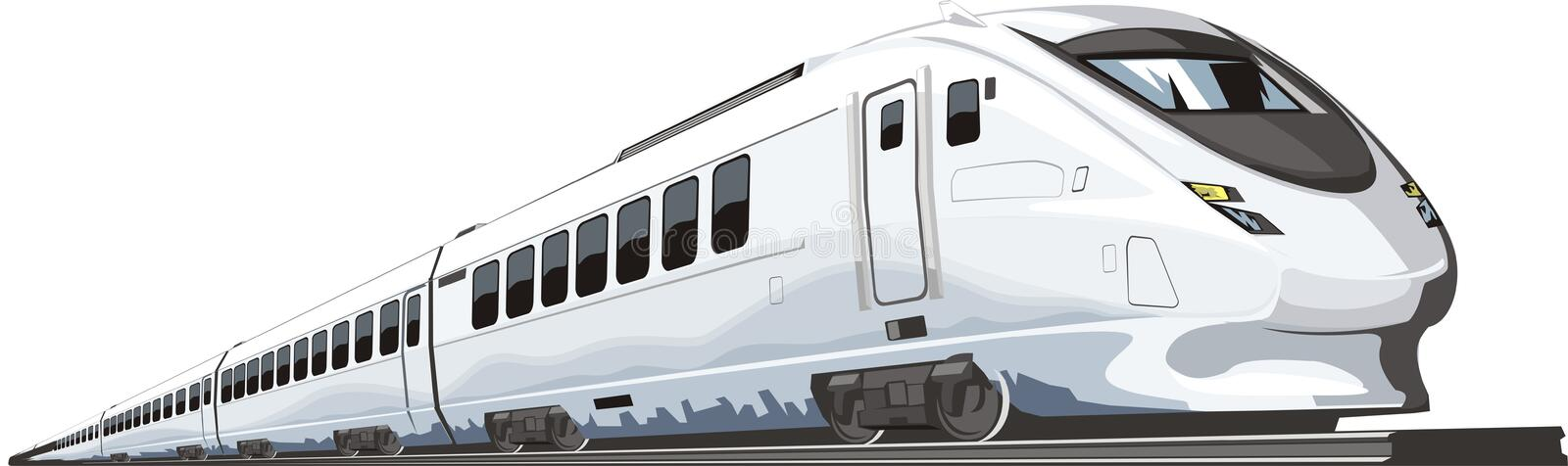 Speed train stock illustration