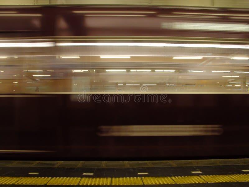 Speed train stock image