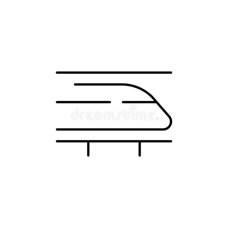 Speed train icon. Element of speed for mobile concept and web apps illustration. Thin line icon for website design and development. App development. Premium vector illustration