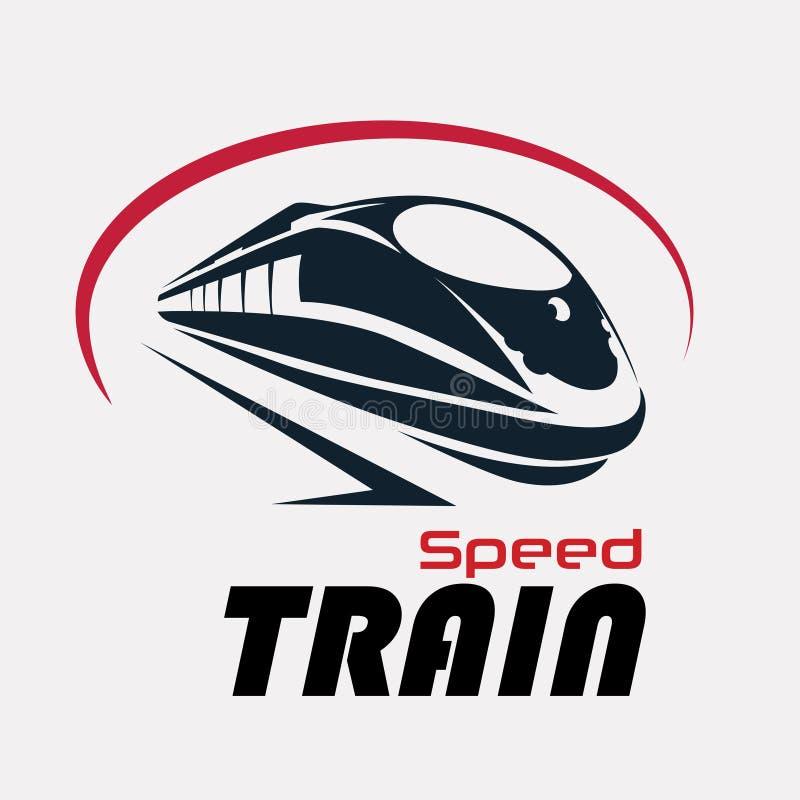 Speed train logo template royalty free illustration