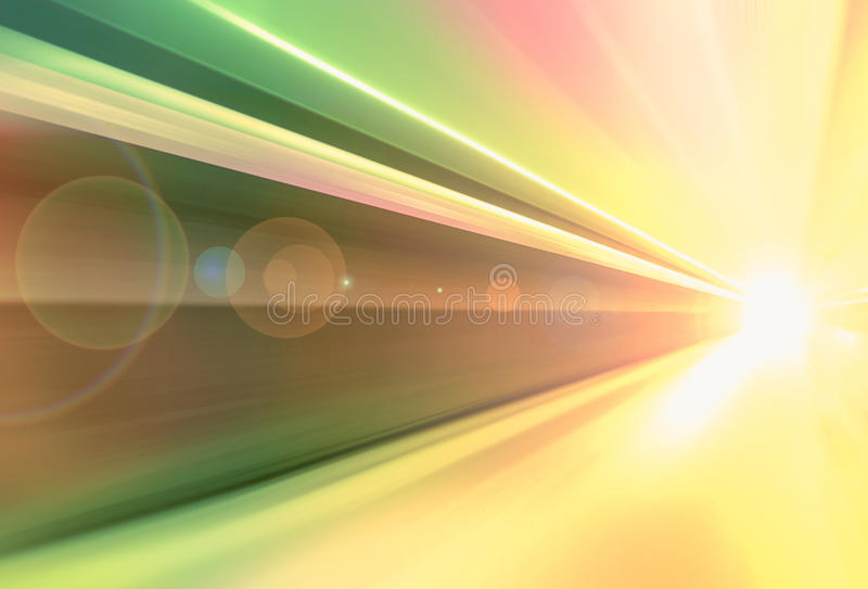 Speed of travel. Lines and light demonstrating speed of travel nowadays stock illustration