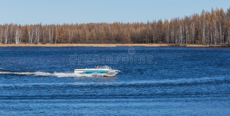 speedboat stockbild