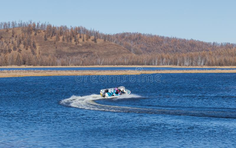 speedboat stockfoto