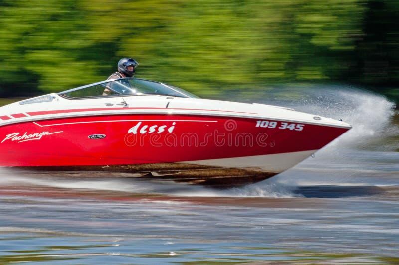 Speedboat in Action stock image