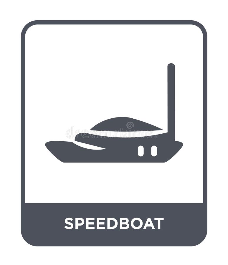 Speedboat icon in trendy design style. speedboat icon isolated on white background. speedboat vector icon simple and modern flat. Symbol for web site, mobile vector illustration