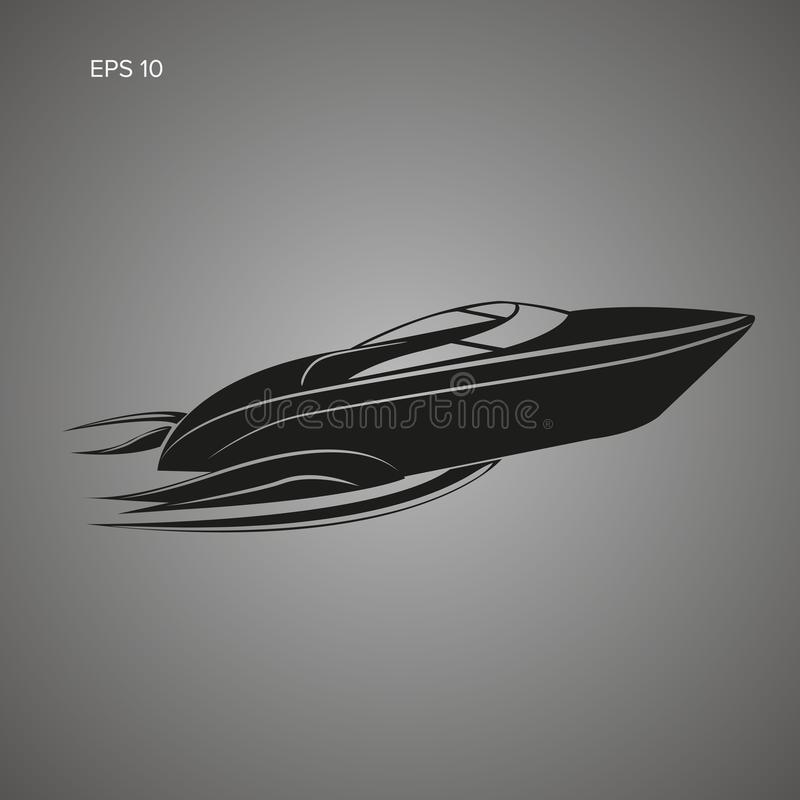 Speedboat isolated icon. Luxury boat vector. Streamline. Vessel vector illustration