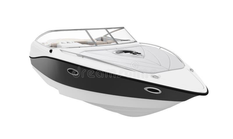 Speedboat Isolated. On white background. 3D render stock illustration