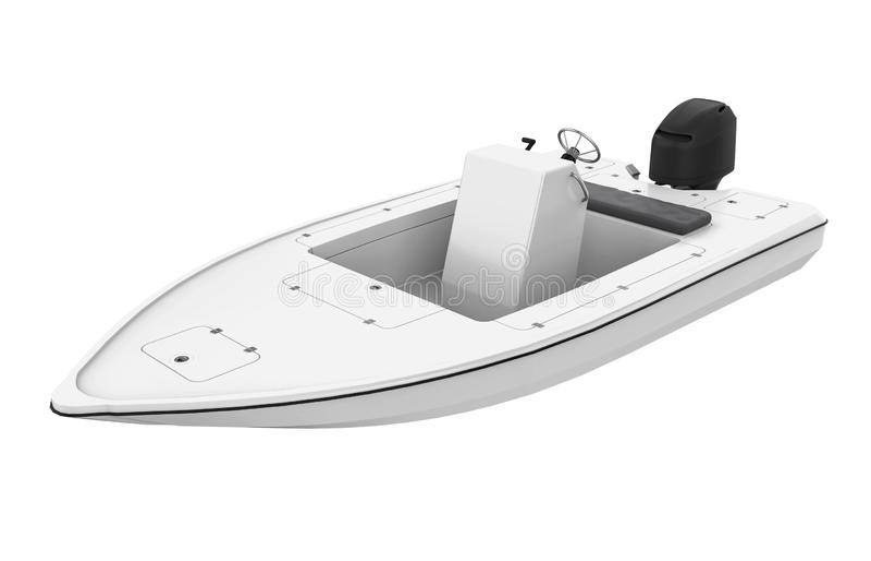 Speedboat Isolated. On white background. 3D render vector illustration