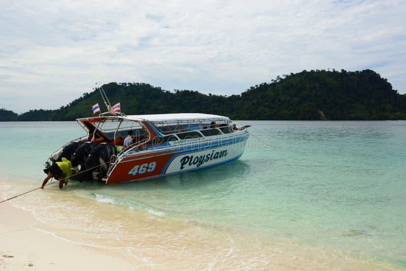 speedboat Ko Khai Provincia di Satun thailand fotografia stock