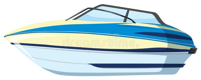 A speedboat on whitebackground. Illustration stock illustration