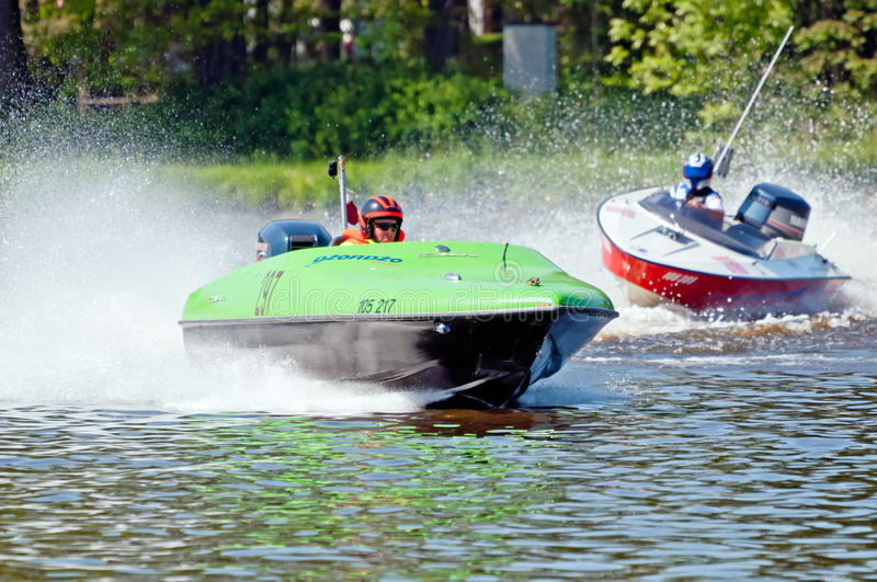 Speedboats in Action stock images