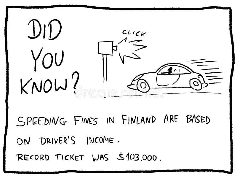 speeding vector illustratie