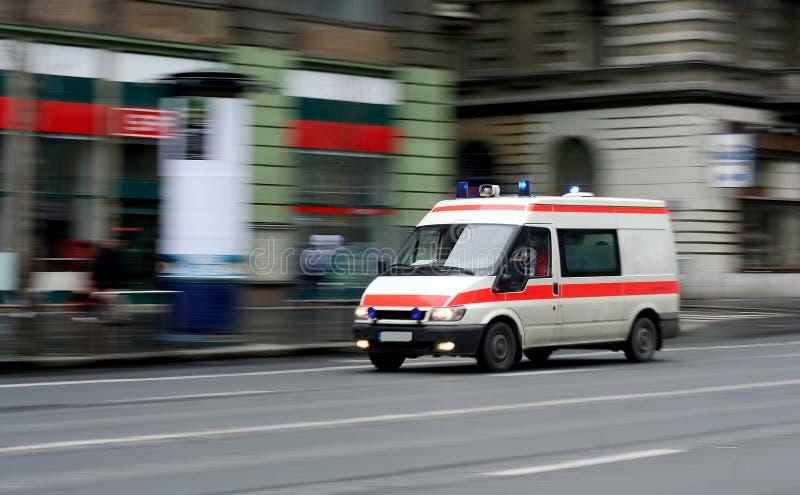 Speeding ambulance stock photos