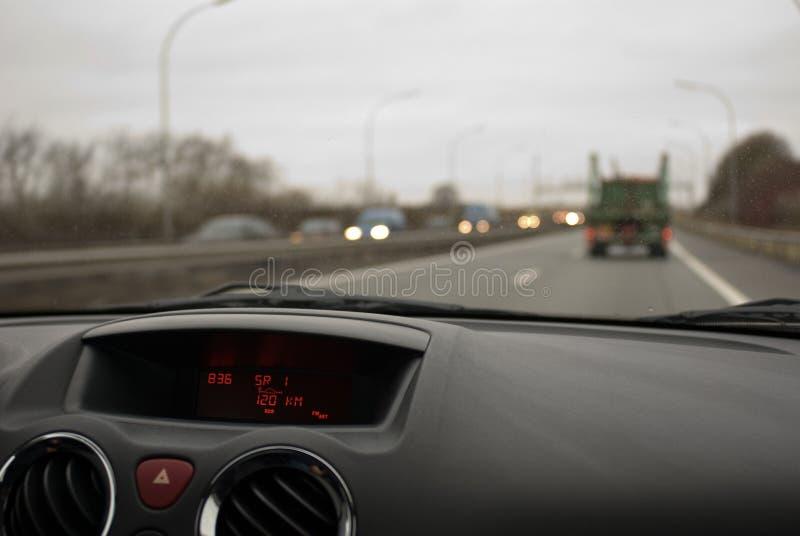 Speeding on the Autobahn stock photo