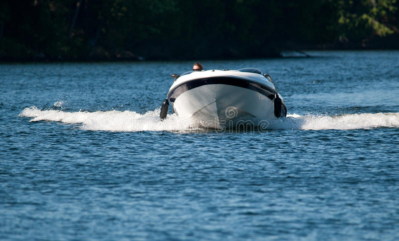 Speeding boat royalty free stock photo