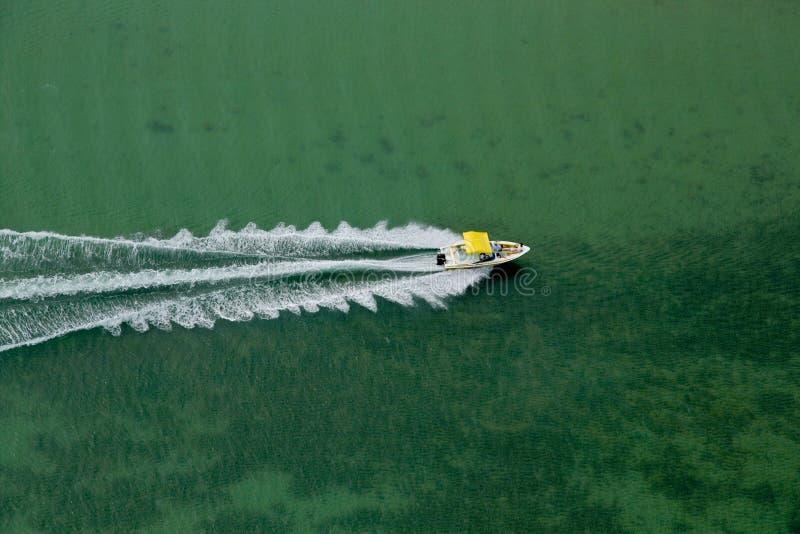 Speeding boat stock image