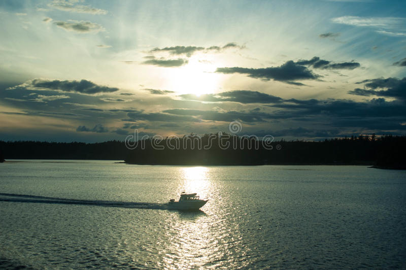 Speeding Boat royalty free stock photos