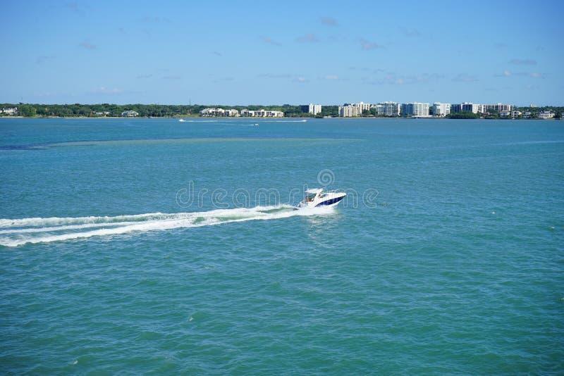 Speeding boat stock photos
