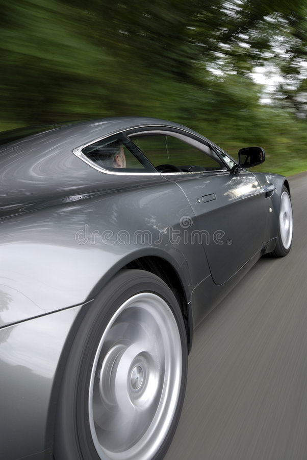 Speeding car stock photos