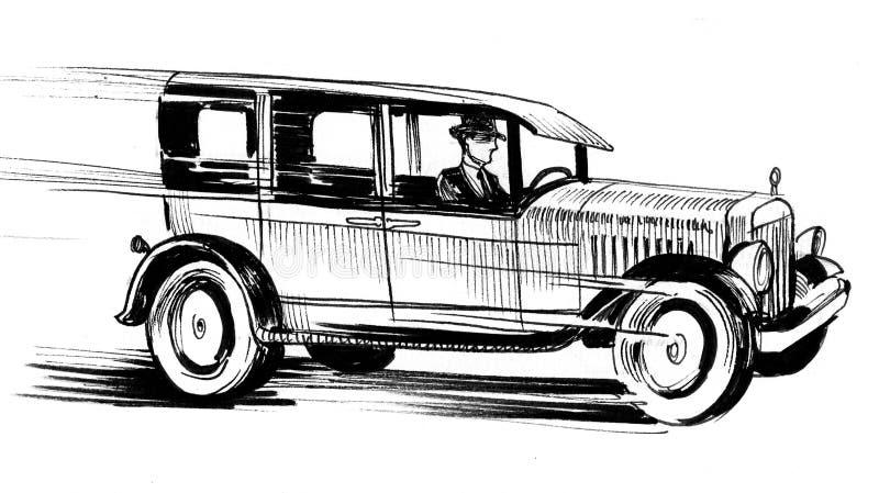 Speeding car vector illustration