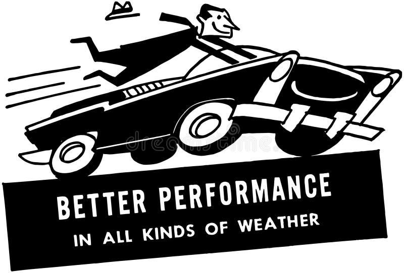 Speeding Driver royalty free illustration