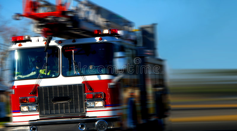 Speeding Firetruck royalty free stock images