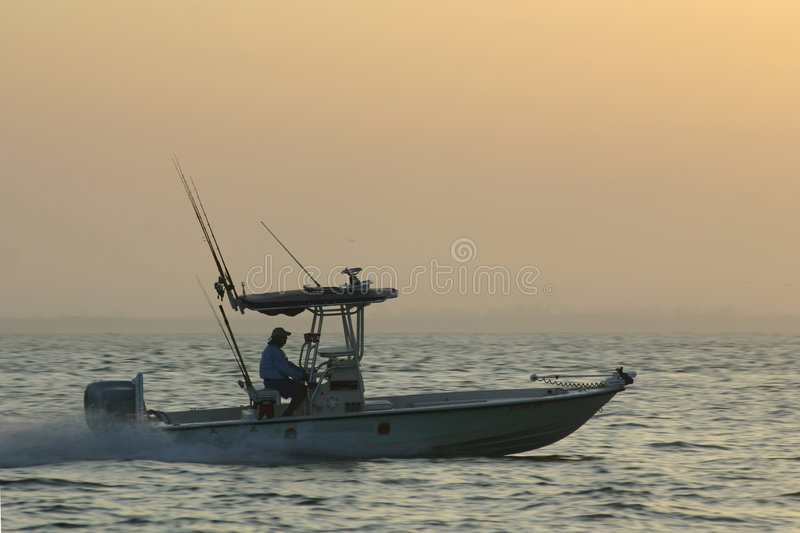 Speeding Fisherman stock images