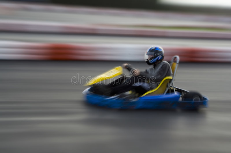 Speeding Go Kart royalty free stock photo
