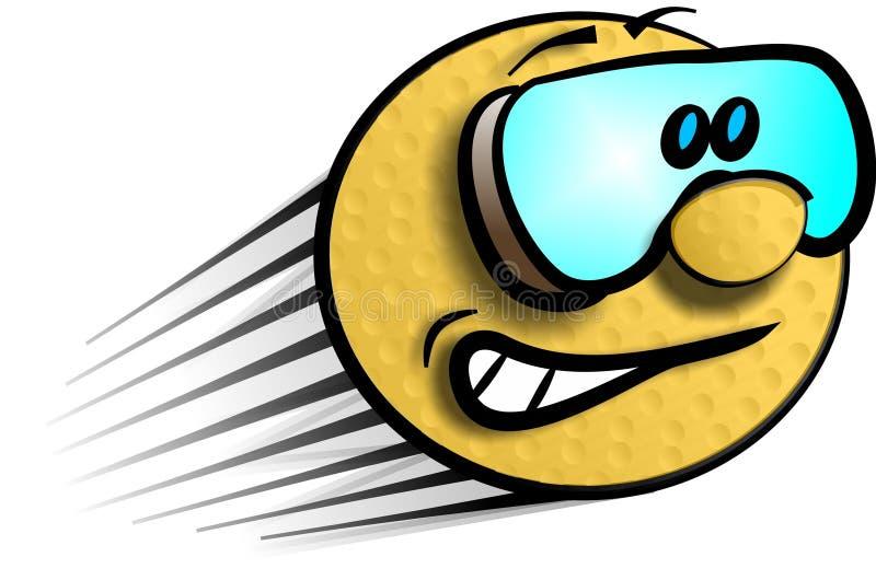 Download Speeding golfball stock illustration. Image of cartoon, speedy - 43569