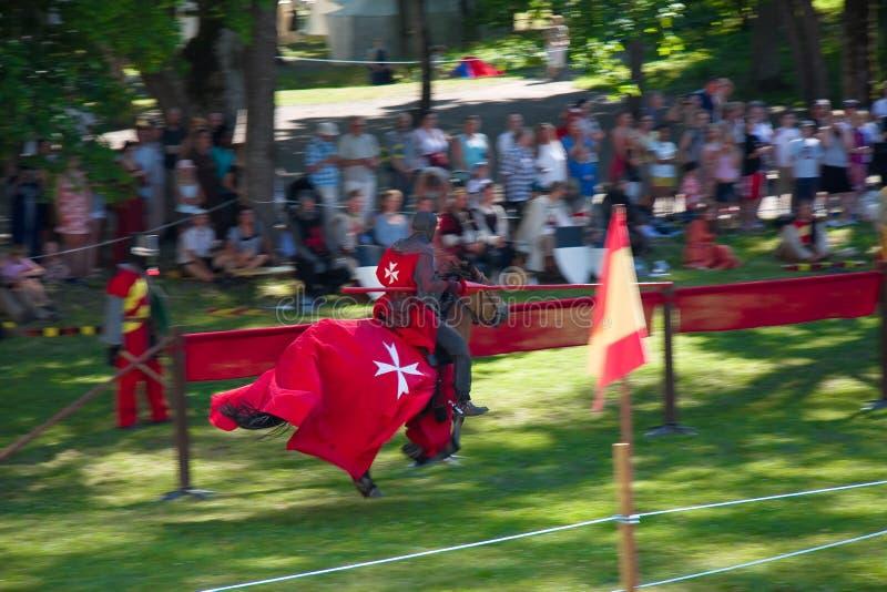 Speeding Knight in sweden stock photos
