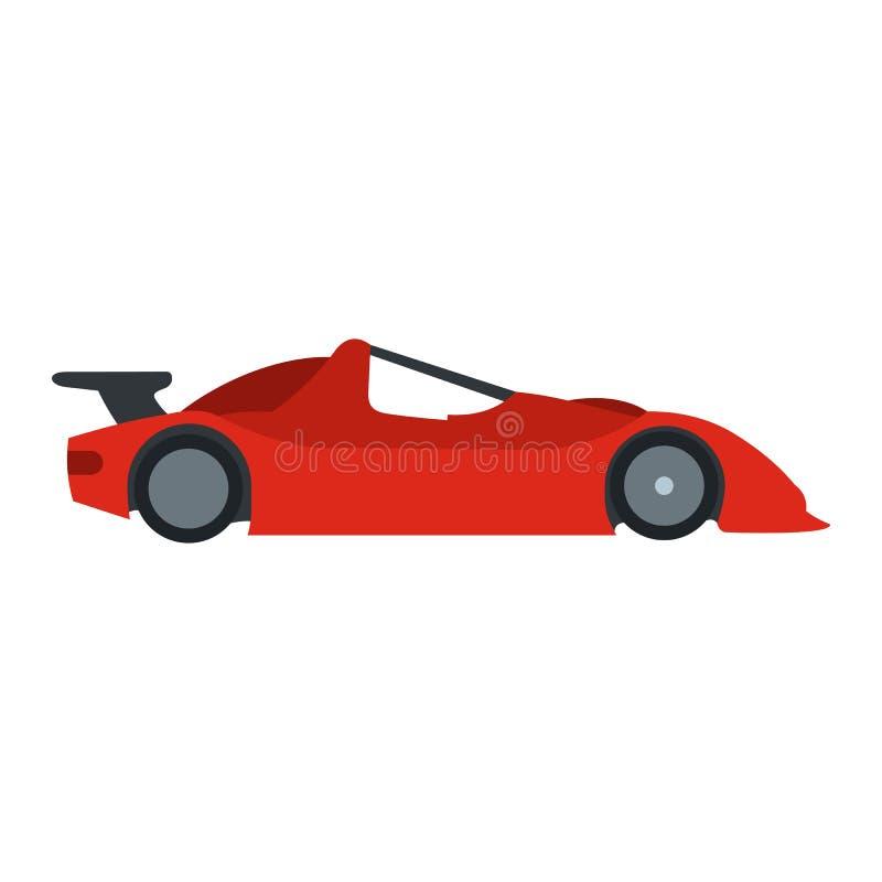 Speeding race car flat icon royalty free illustration