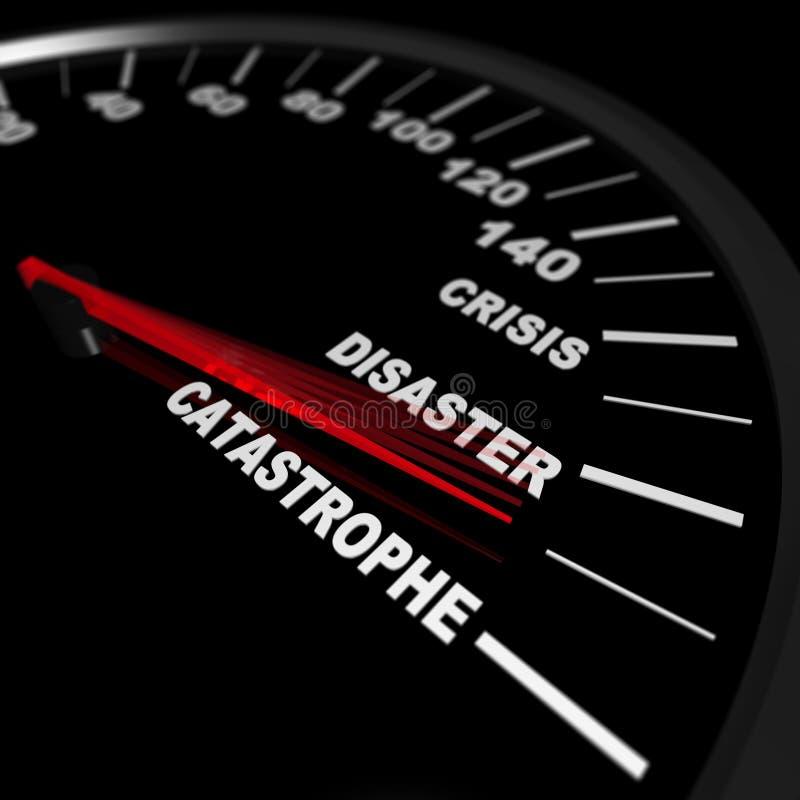 Speeding Toward a Catastrophe royalty free illustration